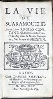 Seicentina - Angelo Constantini - La vie de Scaramouche - 1^ ed. 1695