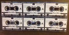 6 Micro Cassette Tapes Mc-30 Phonemate Micro Mini