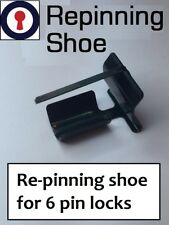 Locksmith tool for re-pinning shoe for 6 pin cylinders 1st P&P