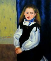 Renoir Portrait of Mademoiselle Legrand Repro, Hand painted Oil Painting 20x24in