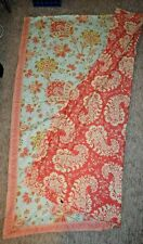 Amy Butler by Welspun Sari Bloom Reversible Duvet Cover Turquoise Coral Twin