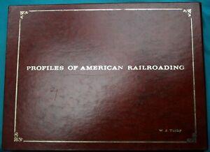 PROFILES OF AMERICAN RAILROADING presentation copy leather slip case GE engines