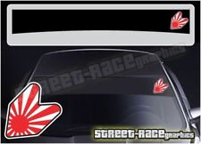 SS5069 JDM Wakaba Car sun strip graphics stickers Fits Subaru Nissan Toyota