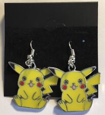 Pokémon Nintendo Pikachu Earrings Fashion Jewelry (Style A-Sitting Pikachu)