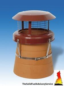 High Top Bird Guard Chimney Pot Solid Fuel Coal Fire Stove Rain Colt Cowl