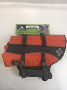 Neoprene Dog Life Jacket by TOP PAW Orange Sz L (55-85lbs) NWT