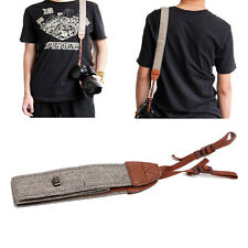 Universal Camera Shoulder Neck Strap Leather Belt Fit For SLR DSLR Digital Canon