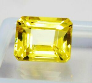 Loose Gemstone 9 to 10 Ct Certified Yellow Sapphire