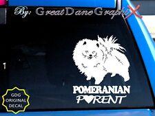 Pomeranian PARENT(S)- Vinyl Decal Sticker / Color Choice - HIGH QUALITY