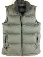 Marmot Sleeveless Puffer Vest Goose Down 700 Fill Gray Full Zip  Mens Size S