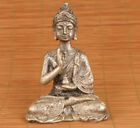 Rare chinese tibet silver handmade casting buddha statue figure collectable