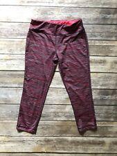 RBX Yoga Active Capri Pink Striped Colorful Size Ml Leggings