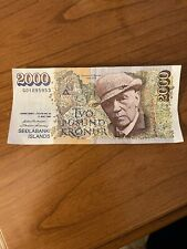 More details for iceland p57a 2000 kronur 1986 banknote in very good condition