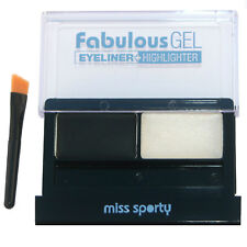Gel eyeliner noir avec highlighter et pinceau de Miss Sporty - Coty -  Black
