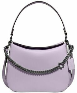 NWT $350 Coach Leather Signature Chain Hobo Shoulder Bag 89178 soft lilac purple