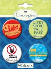 The Gilmore Girls TV Series Images Round Button Set of 4 NEW MINT ON CARD