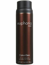 Euphoria for Men by Calvin Klein All Over Body Spray 5.4 oz - New & Fresh