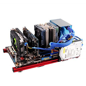 PC Open Case,DIY Mini Open Aluminum Alloy Frame ATX Motherboard PC Computer Has