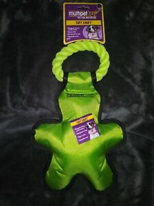 * NEW* Multipet 14' Tuff Enuff Bright Green Rugged Tug Man Toy For Dogs
