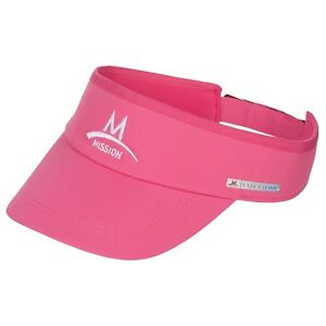 Mission EnduraCool Instant Cooling Visor Pink UPF 50 UV Protection