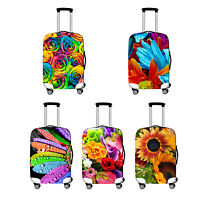 """L Elastic Travel Luggage Suitcase Spandex Flower Cover Protector For 26''~ 28"""""""