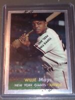 1957 WILLIE MAYS TOPPS HOLOCHROME SILVER VINTAGE REPRINT NY GIANTS