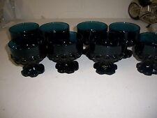 Set of 8 TIFFIN Franciscan Madeira Dark Blue Footed sherbet Glasses