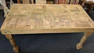 Fabulous Wood Bespoke Table Country Farmhouse Style Leg 157 cm x 80 cm New