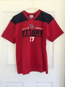 NFL TN Titans Youth Jersey SS – Eddie George #27 Red V-Neck– NWT MSRP $34.95