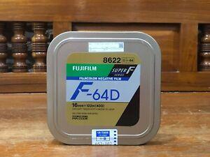 fuji fujifilm 16mm Super F 64D 8622 400ft (122m) motion picture film (seal)