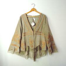 NATAYA Angel Love 2X Beige Gold Velour Victorian Gatsby Formal Jacket Top plus