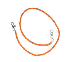 Natural Carnelian Gemstone 4mm Rondelle Faceted Beads 16'' Strand Necklace MJU54