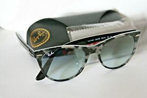 RayBan EVOLVE Black & White Frame 55mm Gradient Lens Sunglasses RB2185F