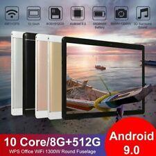 """10.1"""" Tableta Android 9.0 8+512GB WiFi WLAN 2 Cámara Tablet PC GPS"""
