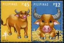 PHILIPPINES 2020 ZODIAC YEAR OF OX 2021 SE-TENANT COMP. SET OF 2 STAMP IN MINT
