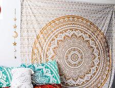 Indian Ombre Mandala Tapisserie Doppelwurf Wand Hängen Wandteppiche Wohnheim
