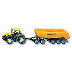 Siku JCB Tractor with Dolly and Tipping Trailer 1:87 Scale Diecast Vehicle 1858