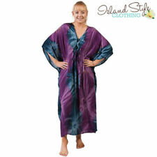 Tie Dye Plus Size Dresses for Women with Batwing Sleeve