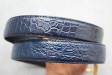 Luxury Dark Blue Genuine Alligator Crocodile Leather Skin Men's Belt