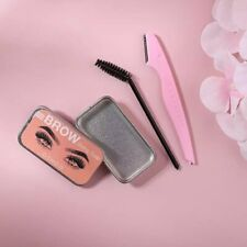 O.TWO.O Eyebrow Wax Soap with Fluffy Trimmer Feathers Eyebrow Gel
