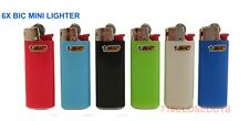 Bic Mini Cigarette Lighters Disposable Small Size, Assorted Colors - Pack of 6