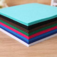 40pc 10X10cm Non-Woven Polyester Cloth DIY Crafts Felt Fabric Sewing Accessories