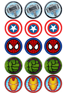 Marvel Cupcake Toppers Pre-Cut High Quality Icing Sheet Avengers Cupcake toppers