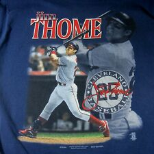 Jim Thome T-Shirt Cleveland Indians Baseball Size XL Blue Vintage 1990s MLB