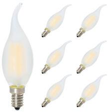 6X 4W E14 Dimmbar LED Lampe in Kerzenform LED Filament Kerze Birne Windstoß Matt