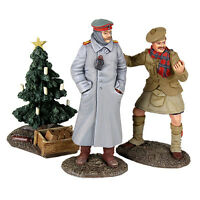 W Britain 23086 World War I Look At Him Go 1914 Christmas Truce Set No 2