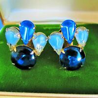 JULIANA D&E colorful quality Rhinestone Clip on Earrings      old        rt-k
