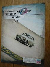 SIMCA ARONDE 1958 CAR VERY OVERSIZED SALES BROCHURE 1958