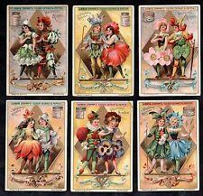 Flower Children Card Set Liebig 1898 Fashion Dress Victorian Vintage Snowdrop
