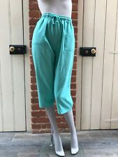 Vintage 90s Mint Green High Waist Elasticated Cropped Joggers Trousers 8 10